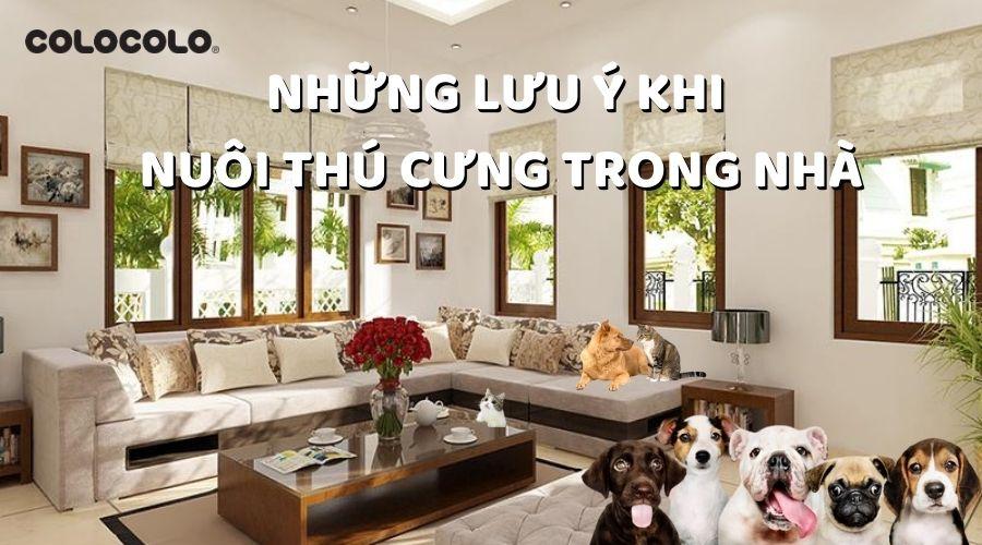 nuôi thú cưng trong nhà
