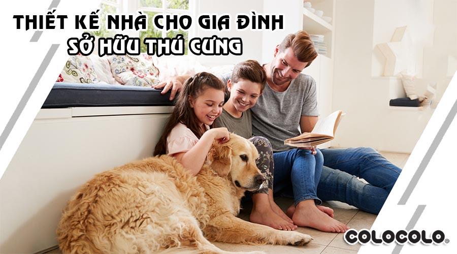 thiết kế nhà cho gia đình sở hữu thú cưng