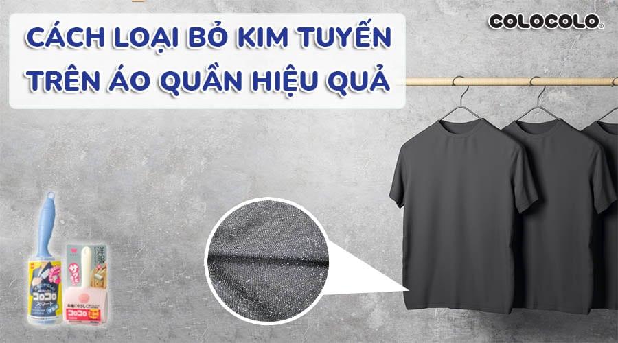 cách loại bỏ kim tuyến trên áo