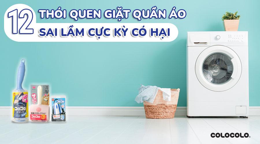 thói quen giặt quần áo